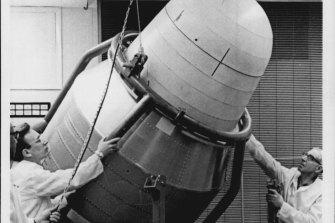 Biosatellite 1 undergoing tests via to launch.