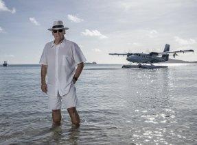 Lang Walker at his exclusive Fiji resort, Kokomo.