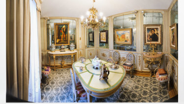 Inside Cerruti's villa, which he visited for Sunday lunch to see his collection, preferring to live above his factory.