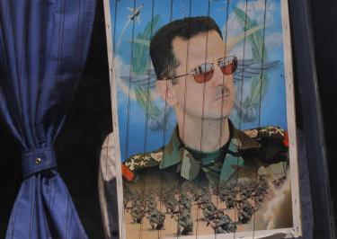 A poster of President Bashar al-Assad.