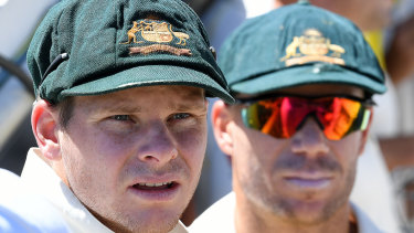 Suspended duo: Steve Smith and David Warner.