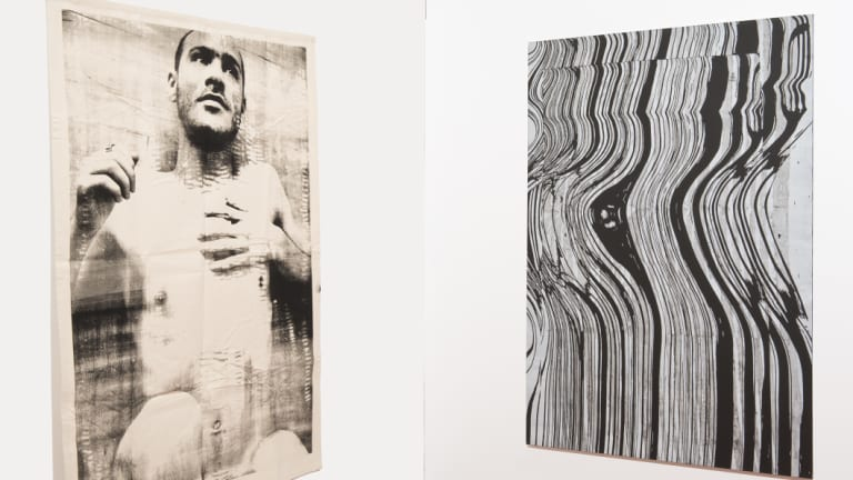 Peter Maloney, <i>Diptych</i> (2018) in<i>Paintings amongst other things</i> at ANU School of Art and Design Gallery, Acton.