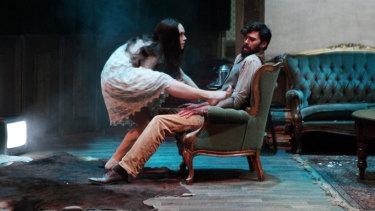 Buckle up: Gwen Langenberg and Thomas Van Ouwerkerk in Horror.