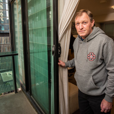 Colin Johnstone, who was homeless, is now being put up in a hotel in the CBD.