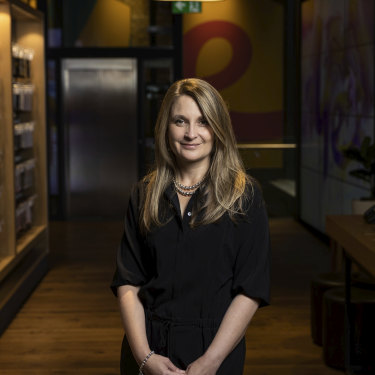 Optus CEO Kelly Bayer Rosmarin was planning to visit stores on her first day. Instead, she was in a crisis meeting.