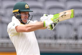 Tim Paine goes on the attack during day two in Perth.