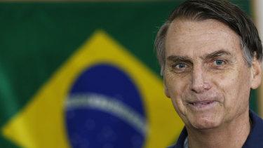 Brazil presidential frontrunner Jair Bolsonaro.