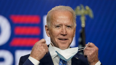 Joe Biden addresses the nation, confident that he will win the White House.