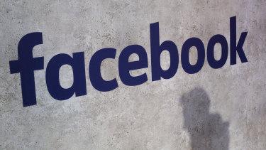 A Facebook logo.
