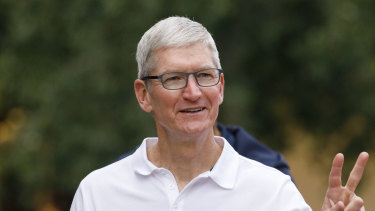 Apple boss Tim Cook is getting ready for launch day.