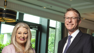 Helen Coonan is Crown's new chair while Ken Barton takes over as chief executive.