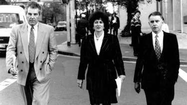 Independents Peter MacDonald, Clover Moore and John Hatton on their way to the State Office Block in 1992. With Tony Windsor, they were responsible, reasonable and committed to stable government.
