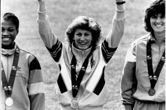 Debbie Flintoff-King with one of her gold medals at the Edinburgh Games.