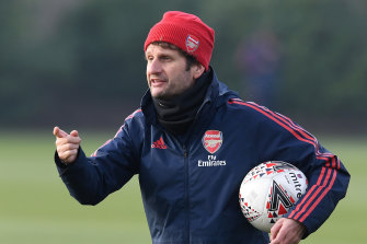 Arsenal's Aussie coach Joe Montemurro has previously expressed an interest in coaching the Matildas.