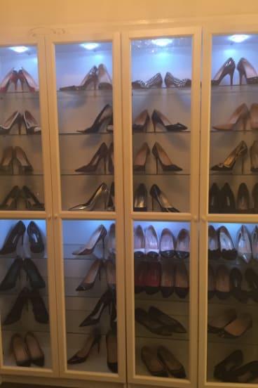 Fidan Shevket's shoe collection.
