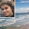 Ella Kretzschmar, 16, and, inset,Moonee Beach.