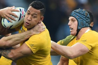 Israel Folau and David Pocock will reunite as teammates.