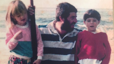 Craig Smith with his children, Laura and Andrew, in 1989.