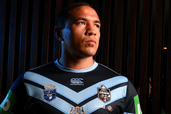 Altered state: Tyson Frizell in the alternate strip.