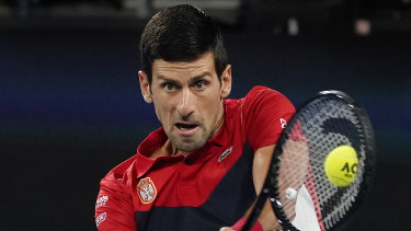 Djokovic was in the zone from the opening point in the ATP Cup final.