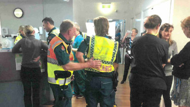 Photos from the day Earle Haven was evacuated were tendered as exhibits at Royal Commission into Aged Care Quality and Safety.
