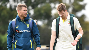 Old firm: Steve Smith and David Warner will make their return to the Sheffield Shield arena on Thursday after a two-year absence.