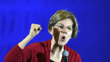 Senator Elizabeth Warren on the campaign trail.