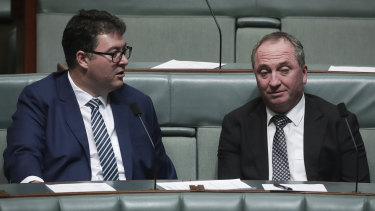 Nationals MP George Christensen and former Deputy PM Barnaby Joyce both spoke up about the need to push back against stronger climate action.