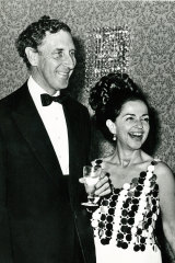 Sir Warwick Fairfax and Lady Fairfax hosting one of their grand soirees at Fairwater in the 1960s.