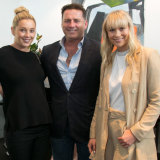 Jasmine and Karl Stefanovic supported sister Jade at the Pantheone Audio launch.