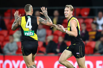 Tom Lynch and Dustin Martin were both in superb form against the Lions.