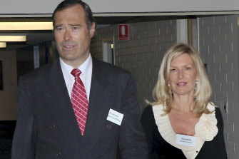 A disappointed Abercrombie and wife Shadda after his failure to win preselection for Higgins in 2009.