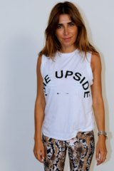 Jodhi Meares in her athleisure wear brand, The Upside.