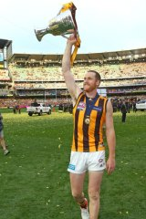 Roughead with the 2015 premiership cup.