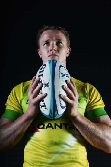 Boys to men: Henry Hutchison is part of coach Tim Walsh's bid to give Australia a ruthless streak in men's sevens.