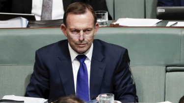 Tony Abbott in Parliament on Tuesday.