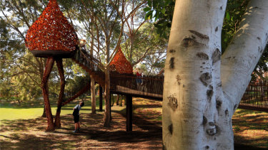 A tree house at Mirvac's South Eveleigh technology park.