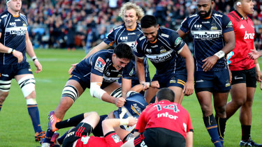 The Brumbies dominated the opening exchanges, but capitulated after half-time.