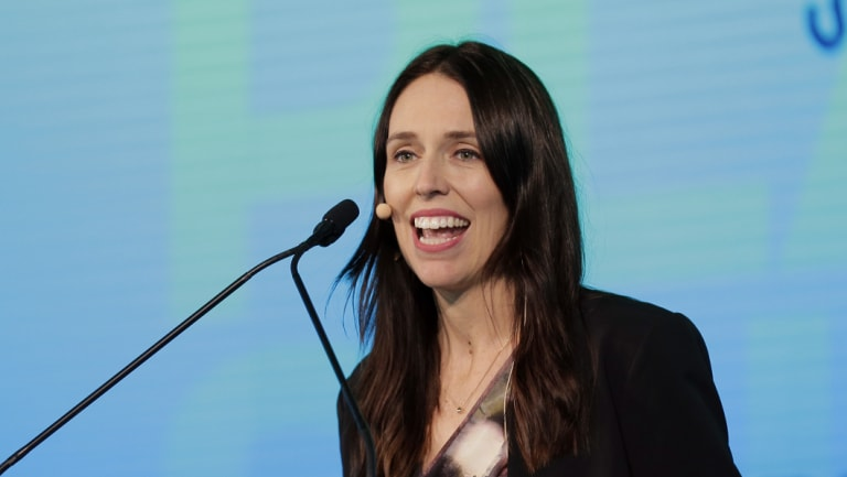 New Zealand's Prime Minister Jacinda Ardern speaks during the One Planet Summit in New York.