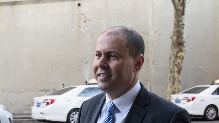National Energy Minister - Josh Frydenberg arrives at the Shangri La Hotel in Sydney to meet with State energy ministers. Friday 10th August 2018.