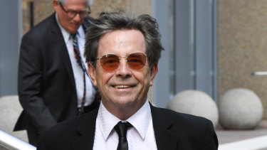 """Australian singer John Paul Young, who made """"Love Is In The Air"""" a hit in the 1970s, leaves the Federal Court in Sydney."""