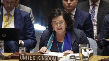 United Kingdom's United Nations Ambassador Karen Pierce