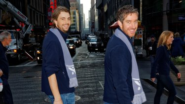 Atlassian co-founders Mike Cannon-Brookes (left) and Scott Farquhar in New York.