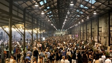 The popular Night Market at Carriageworks.