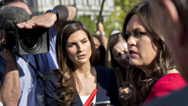 White House press secretary Sarah Huckabee Sanders struggled to answer questions on Trump's latest Stormy story.