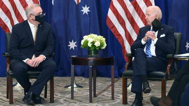 Prime Minister Scott Morrison and US President Joe Biden held their first bilateral meeting in New York