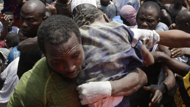 Rescue efforts are underway in Nigeria after a three-storey school building collapsed while classes were in session, with scores of children thought to be inside at the time.