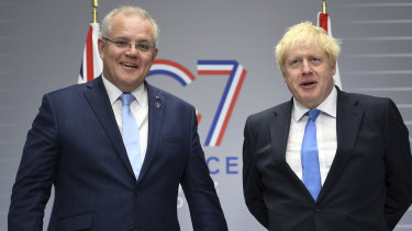 Prime Minister Scott Morrison received a letter from British Prime Minister Boris Johnson thanking him for his commitment to net zero.