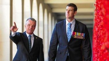 War Memorial head Brendan Nelson and SAS veteran Ben Roberts-Smith.