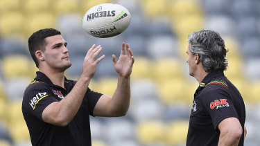 Nathan and Ivan Cleary are set to collect an historic father-son Dally M double on Monday night.